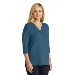 LK5433 Port Authority Ladies Concept 3/4-Sleeve Soft Split Neck Top