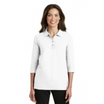 L562 Port Authority Ladies Silk Touch 3/4 Sleeve Polo