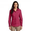 LW100 Ladies Long Sleeve Carefree Poplin Shirt