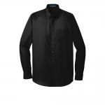 W100 Port Authority Long Sleeve Carefree Poplin Shirt