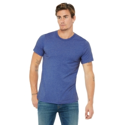 *3001C Round Neck Heather Royal